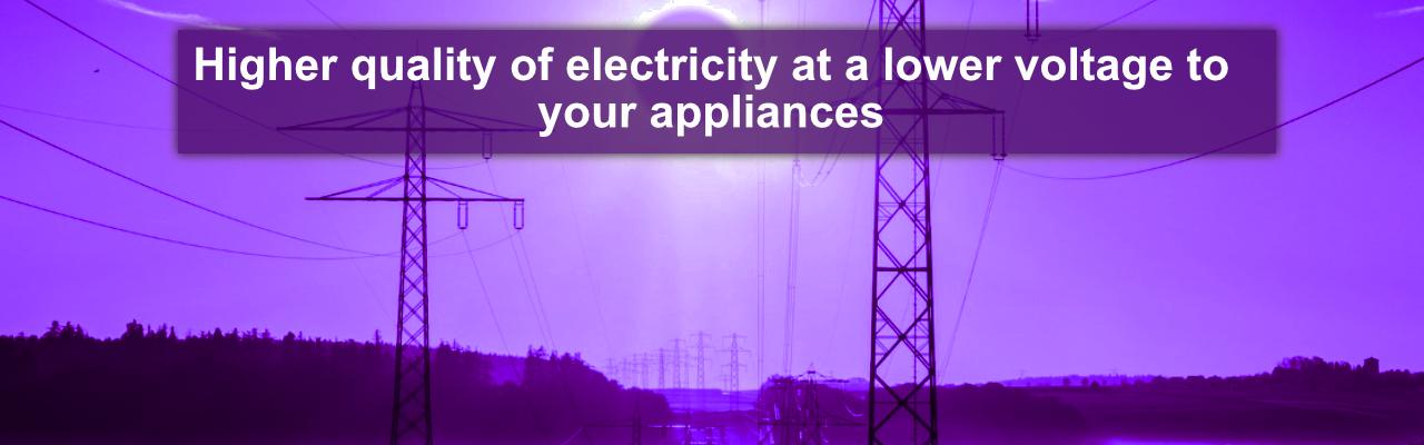 Voltage optimisation main header - Clique energy purple pylons